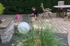 Neugestaltung eines Gartens